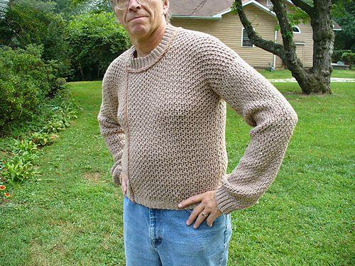Mens Custom Fit Crochet Sweater Pattern By Deborah E Burger For