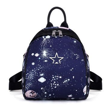 Women Nylon Galaxy Pattern Light Weight Large Capacity Backpack Shoulder Bag Womens Bags from Bags & Shoes on banggood.com