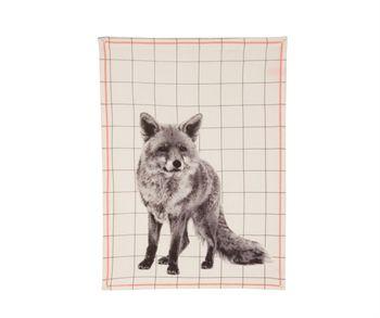 Tea towel Grid Fox
