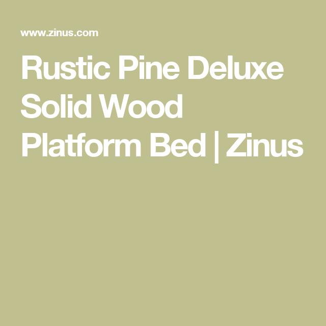 Rustic Pine Deluxe Solid Wood Platform Bed Solid Wood