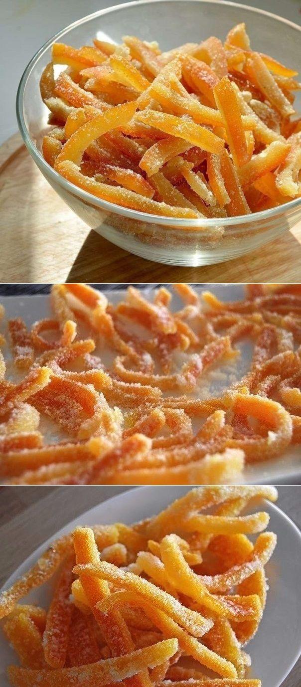 Апельсиновые цукаты #kochenundbacken