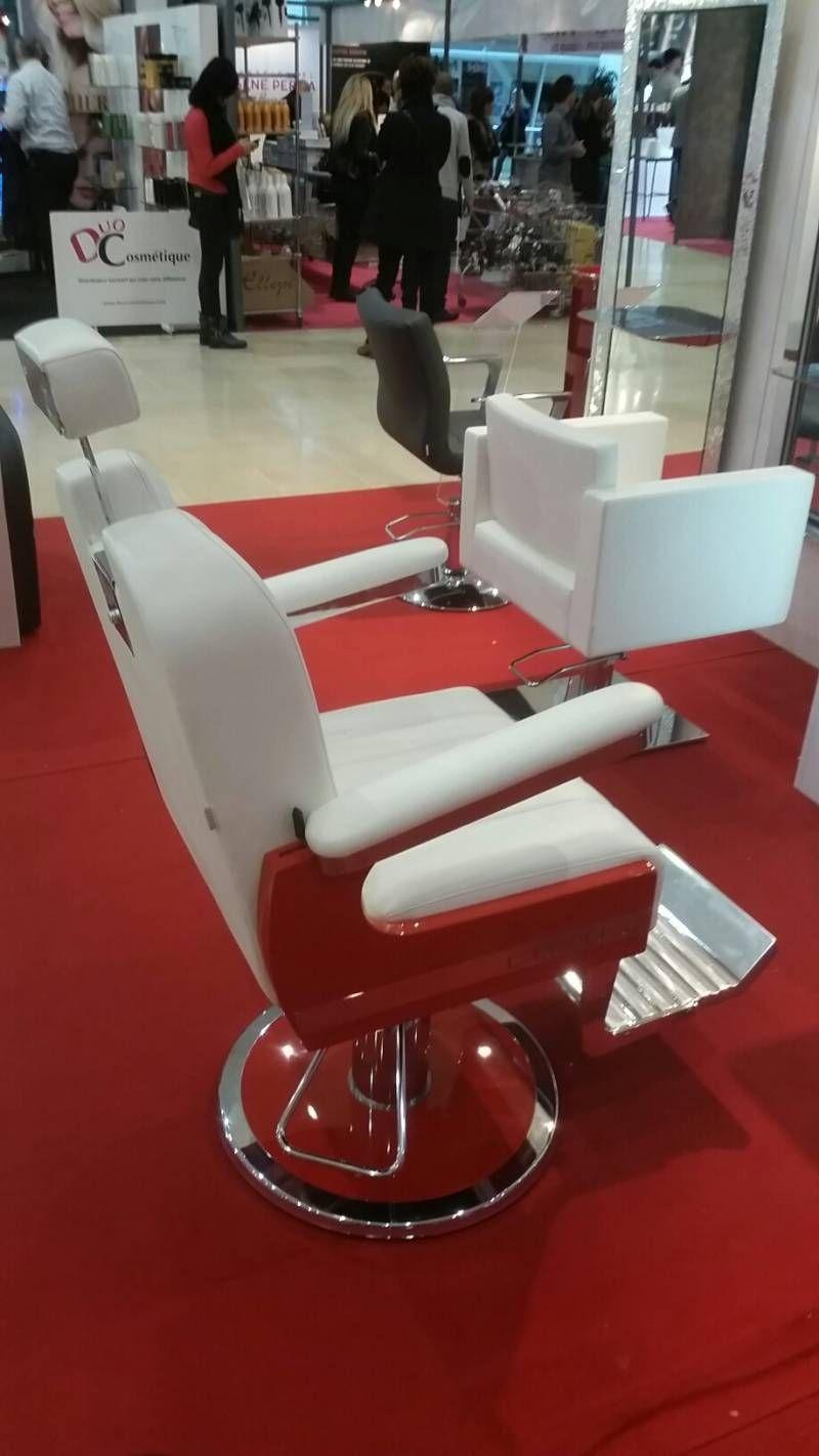 Fauteuil De Barbier Pro Pour Salon Coiffure Rouge