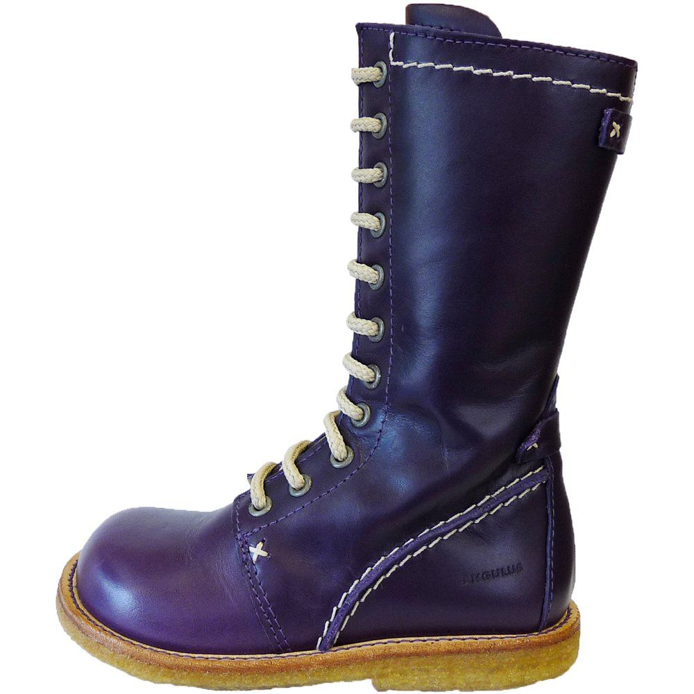 purple boots | ... Girls Purple Lace-up Boots Size 24 Only ...