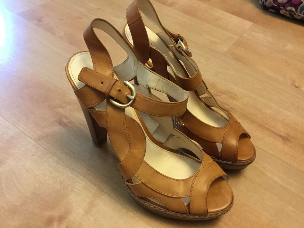 d090a31e5435 Women-Coach-Peep-Toe-Ankle-Strap-Tan-Leather-Platform-Heels-Sz-9-1-2-B   fashion  clothing  shoes  accessories  womensshoes  heels (ebay link)