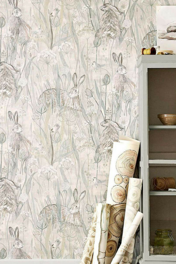 The perfect country wallpaper, Dune Hares by Sanderson.