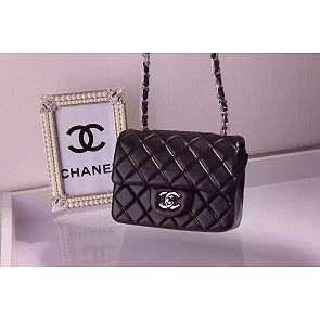 8d0772687348 Chanel Mini Classic Flap 17cm in Black Lambskin Bag | Love Handbags ...