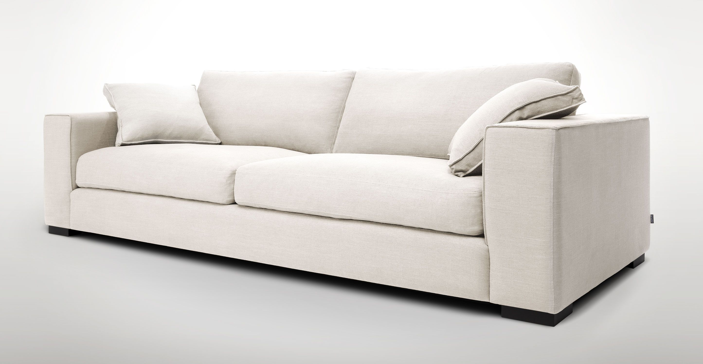 White Sofa With Solid Wood Legs