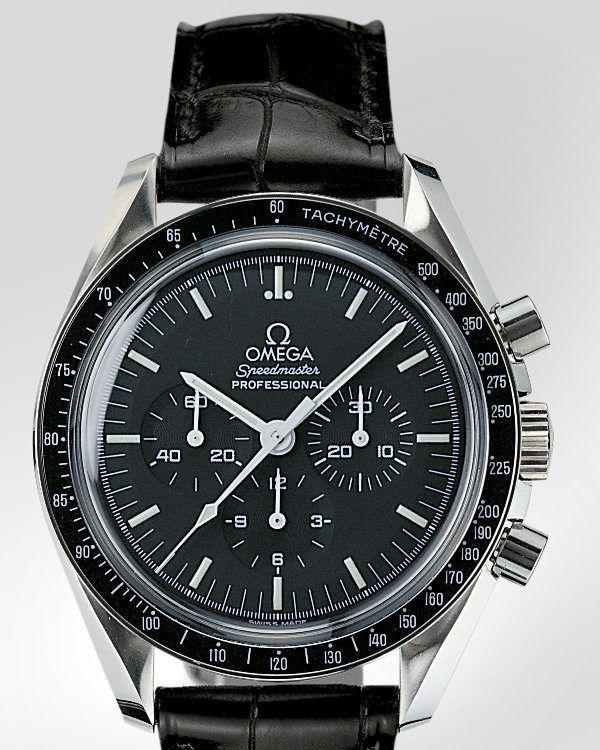 0c95c951a2ff Omega Speedy Pro with black croc strap. Looks so classy.   Watches in 2019    Pinterest   Omega speedmaster, Omega speedmaster moonwatch and Omega