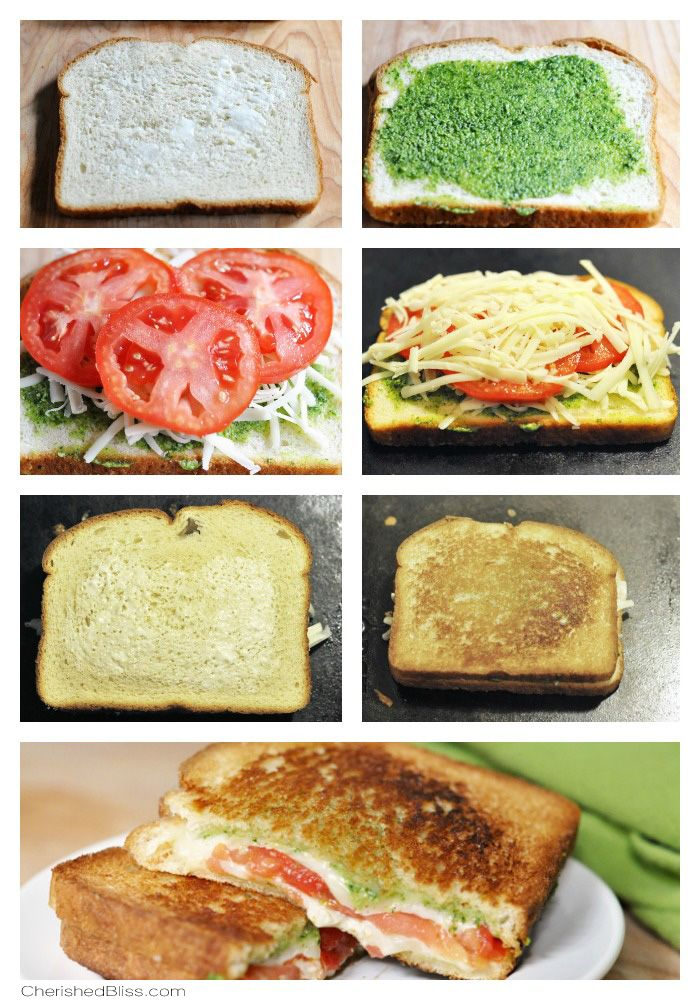 Pesto Caprese Grilled Cheese - Cherished Bliss