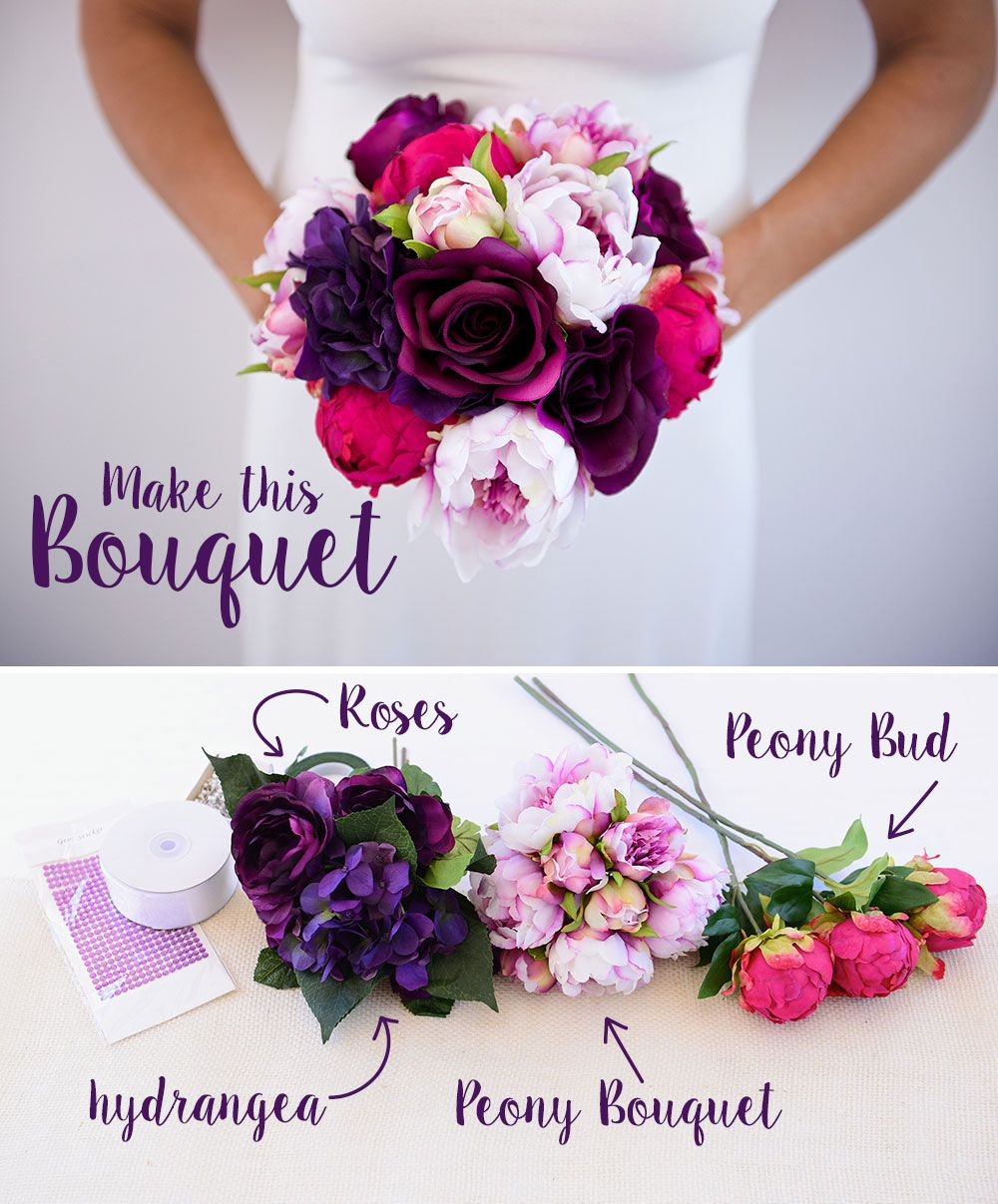 Make Silk Wedding Flowers: Learn How To Make This Silk Flower Bouquet With A Simple