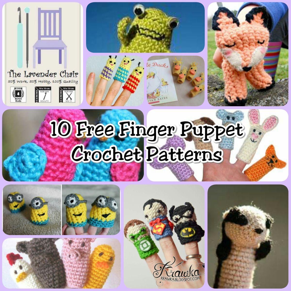 FREE Finger Puppet Crochet Patterns | Marioneta, Cola de sirena y ...