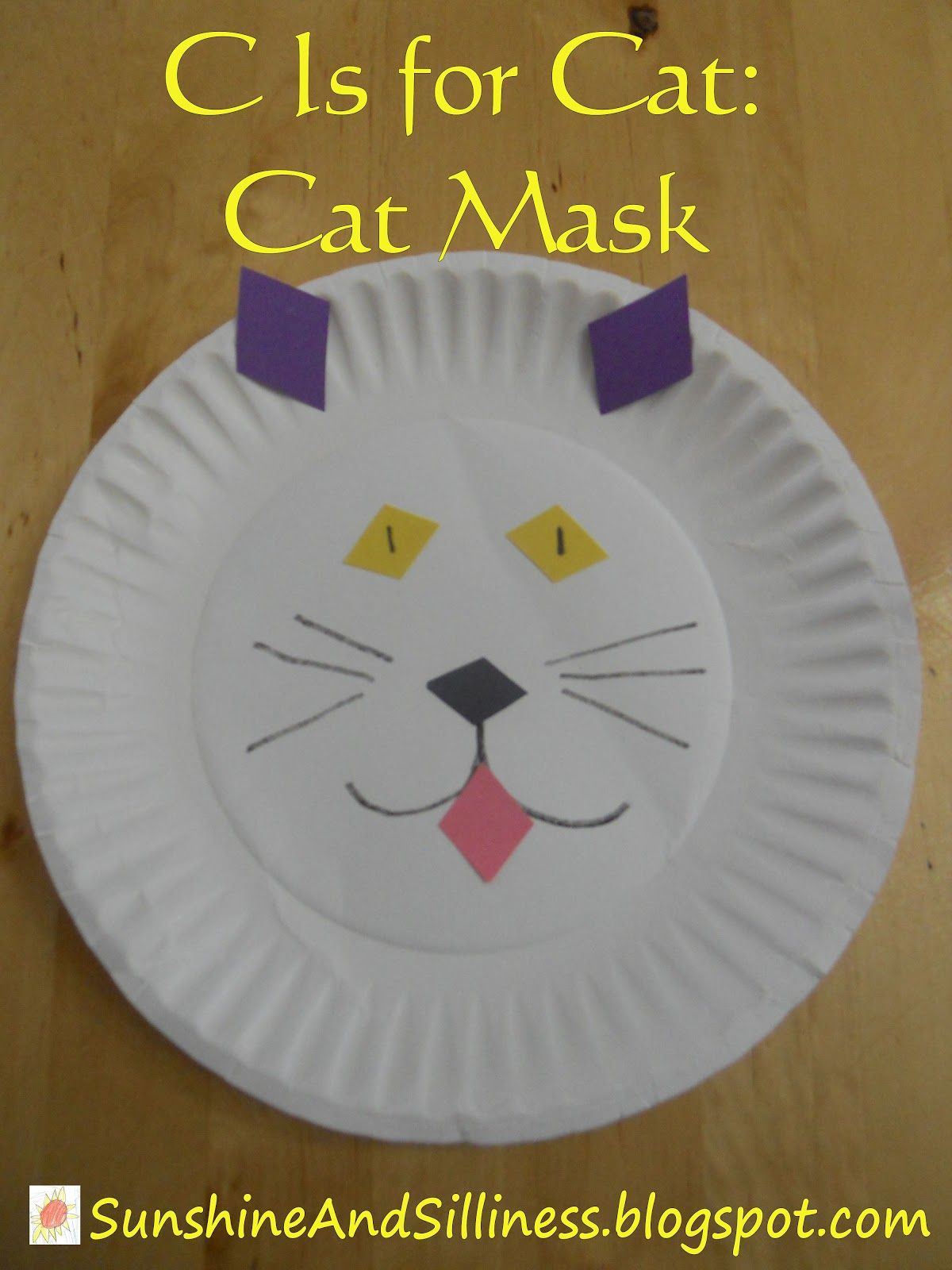 Sunshine And Silliness C Is For Cat Cat Mask Diamond Shapes