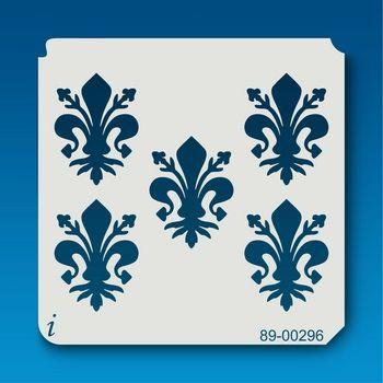 89-00296 Fleur de Lis Repeat istencils.com