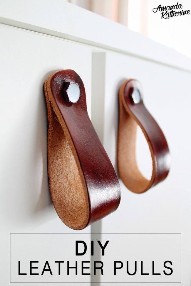Diy Leather Pulls Diy Leather Pulls Leather Diy Leather Pulls