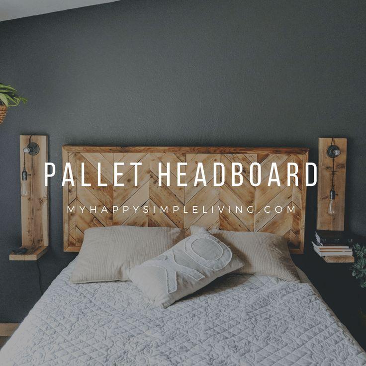 Herringbone Pallet Headboard images