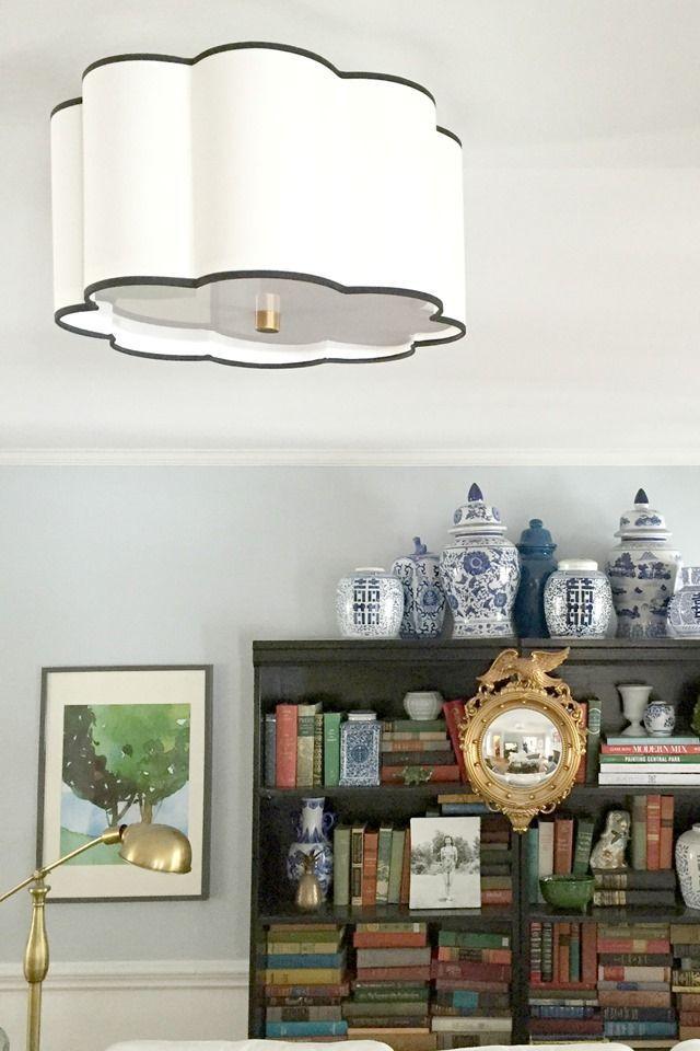 Flushmount Light In Living Room