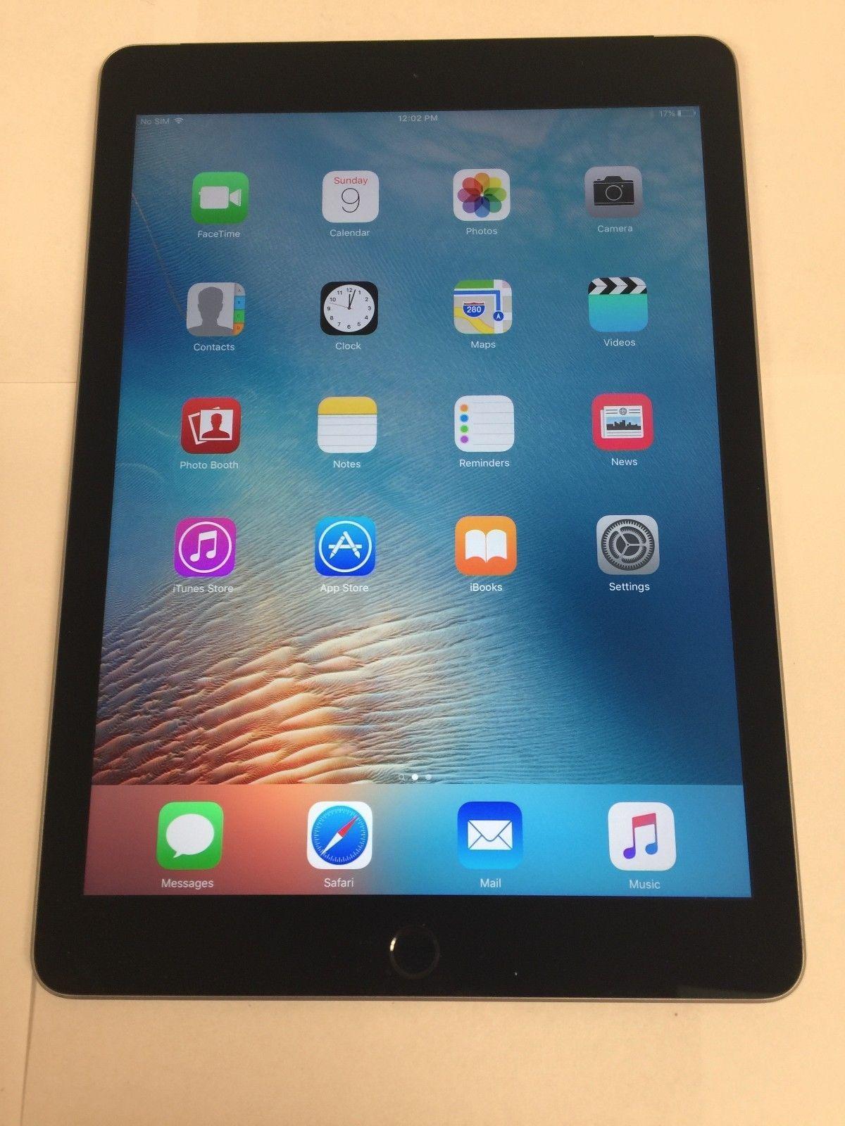 Apple Ipad Air 2 64gb Wi Fi Cellular 4g Lte Unlocked Space Gray