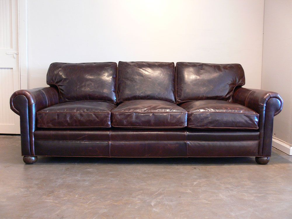 Great Our Langston Leather Sofa Marries Beautiful Brompton Cocoa Leather,  Ultimate Deep Seating (up To