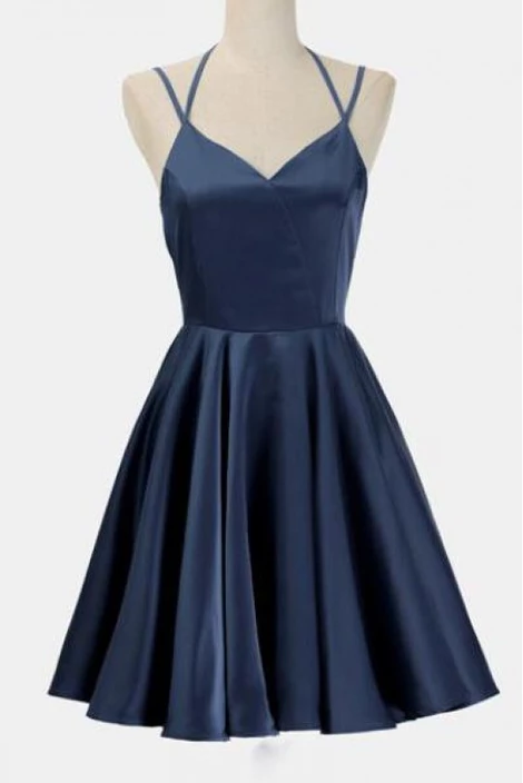 Simple Party Dress, Party Dress For Cheap, Dark Blue Wedding Dress, Blue Party Dress ,homecoming dress,1503 #navyblueshortdress