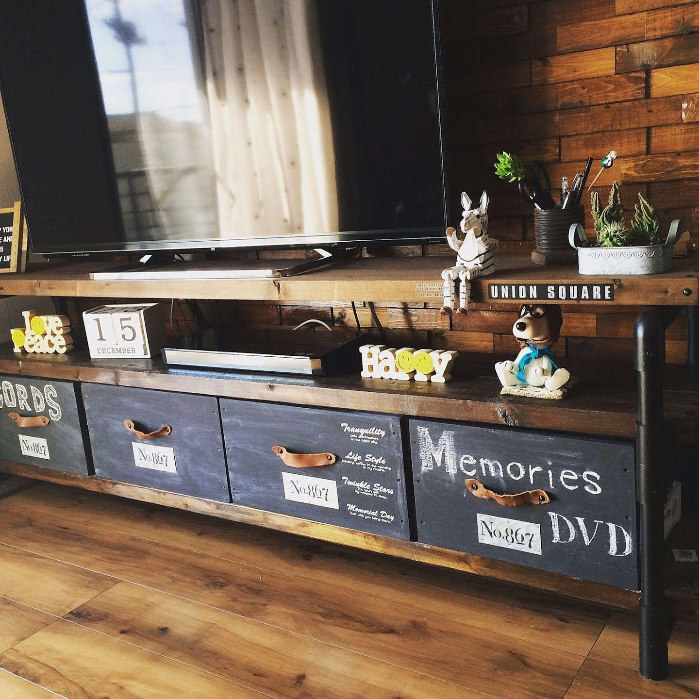塩ビパイプで家具をdiy テレビ台 テーブル チェアなどが作れる インテリア 収納 テレビ台インテリアアイデア インテリア 棚