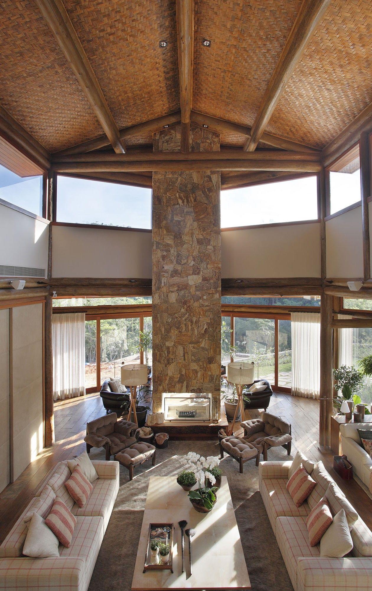 Residência foto intsalas pinterest modern lodge loft