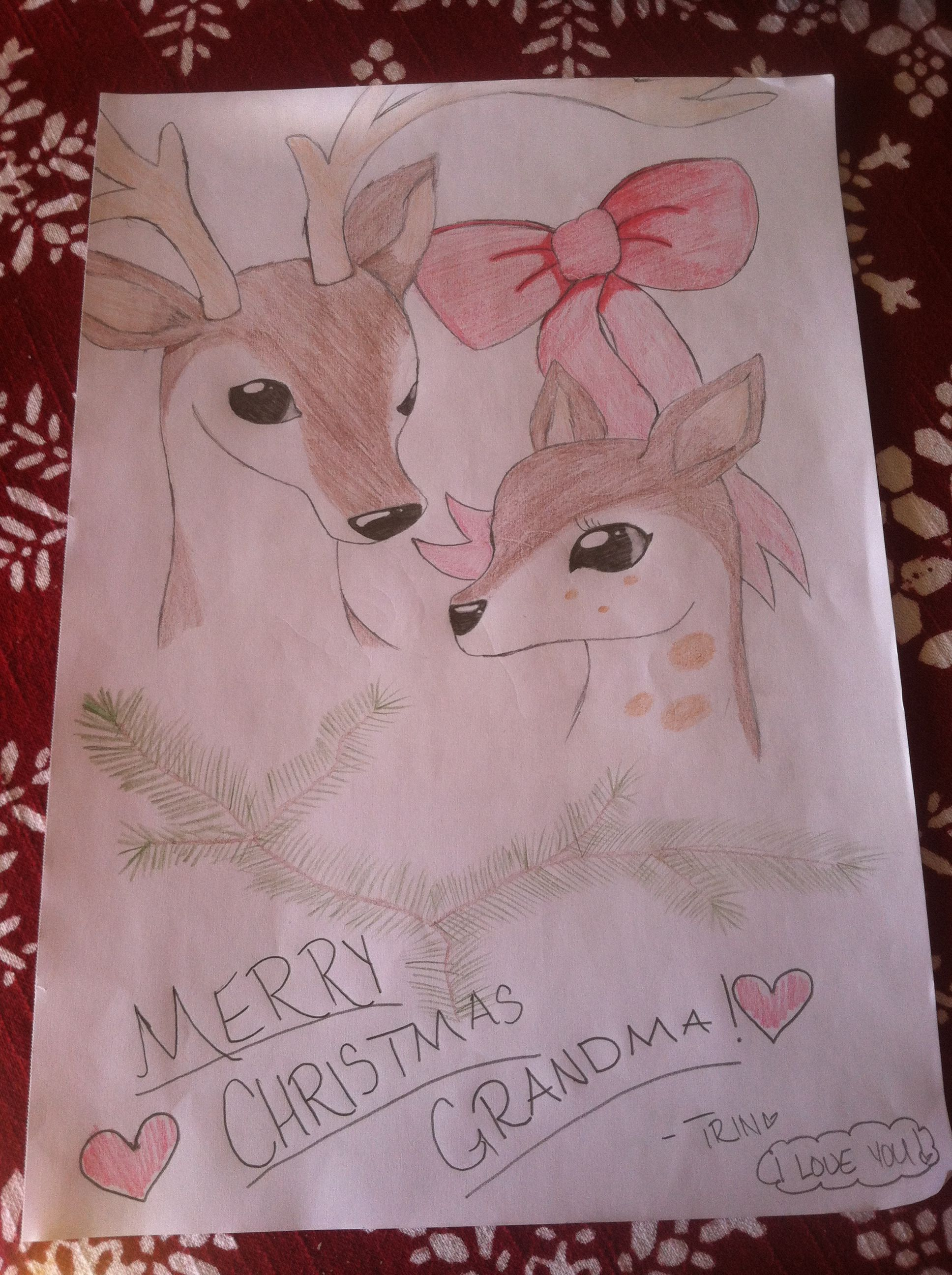 My Grandma Wanted Me To Draw Her A Picture For A Christmas Gift So