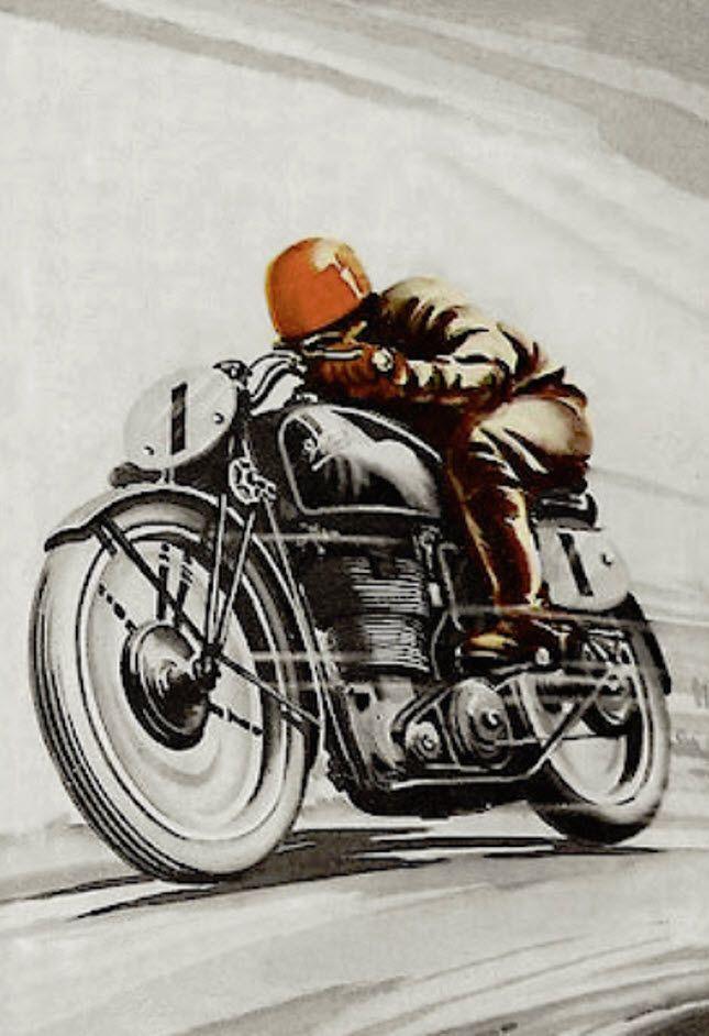 Motobilia Vintage Motorcycle Art Vintage Motorcycle Posters Motorbike Art