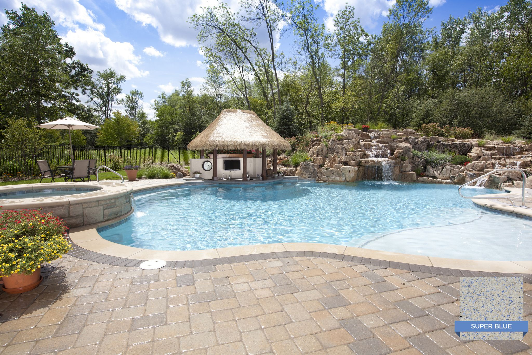 Krystalkrete Super Blue Will Make Any Pool S Water Color Bright And Blue Rosebrook Pools Libertyville Illinois Swim Pool Finishes Pool Colors Swimming Pools