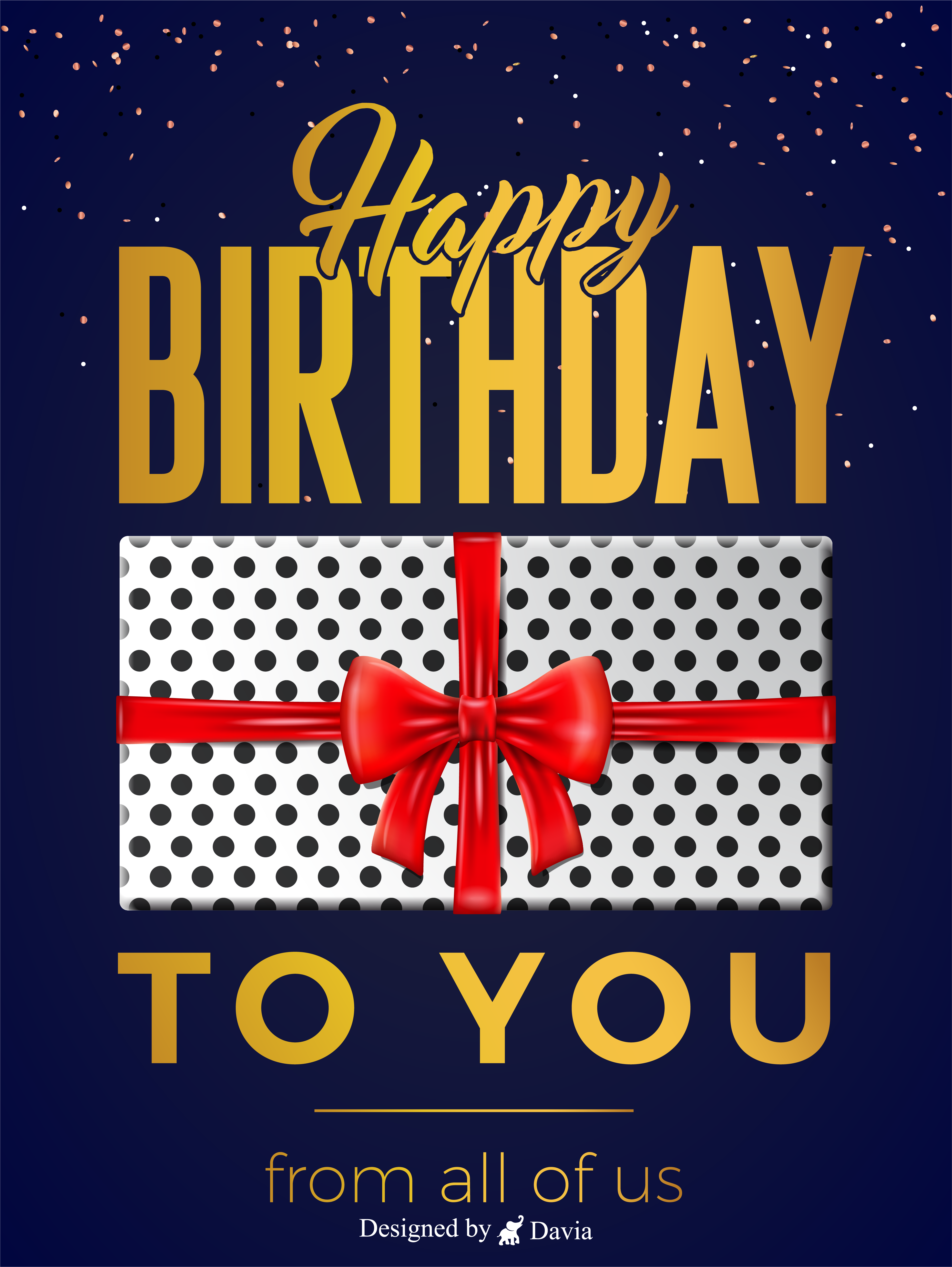 Polkadot And Red Bow Happy Birthday To Him Cards Birthday Greeting Cards By Davia In 2021 Happy Birthday To Him Birthday Cards For Him Birthday Greeting Cards