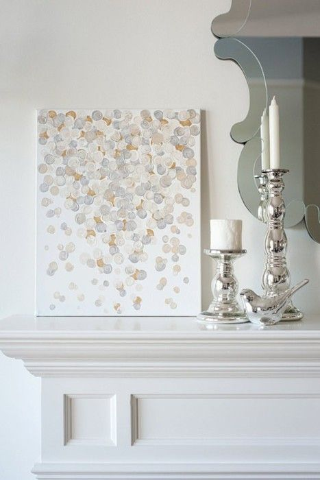 peindre sur toile des points de couleurs neutres ou des points de toutes les couleurs de. Black Bedroom Furniture Sets. Home Design Ideas