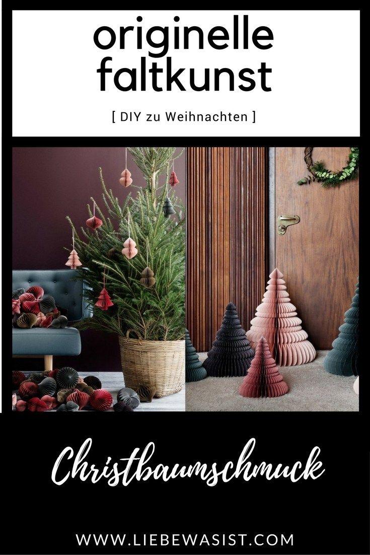 Origami für den Weihnachtsbaum - Falt-Baumschmuck DIY