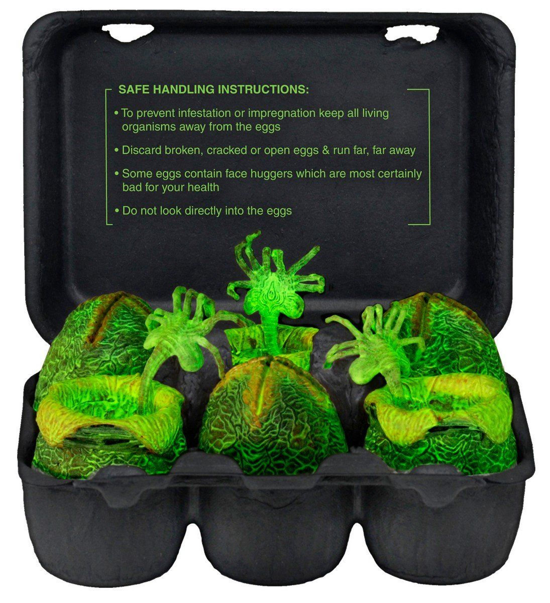 6 Pack NECA Alien Egg Carton Glow-in-the-Dark Alien Eggs Accessory Pack