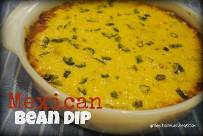 girls and their meals: Mexican Bean Dip