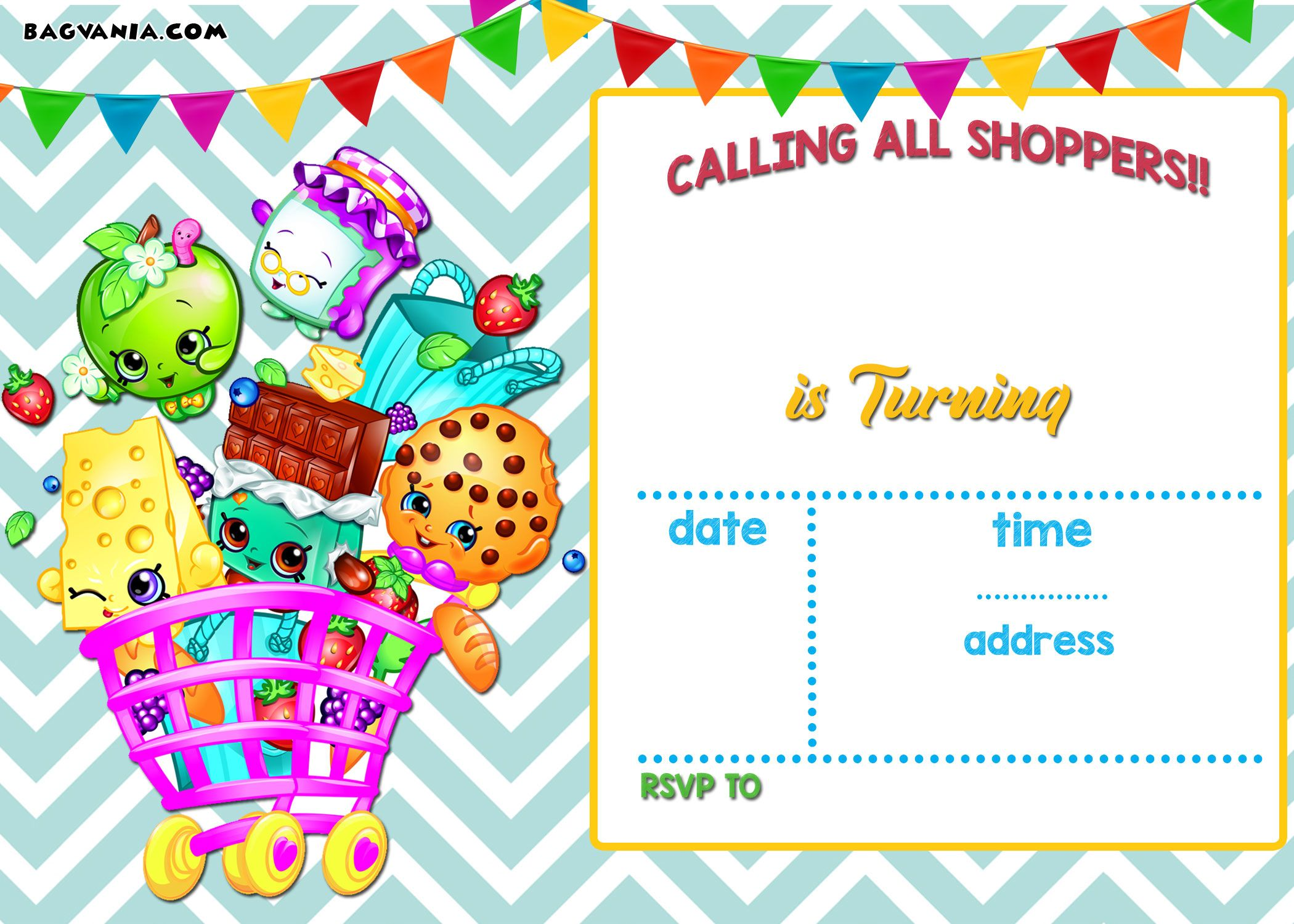 Nice Calling All Shoppers Here Are Free Blank Shopkins Invitation