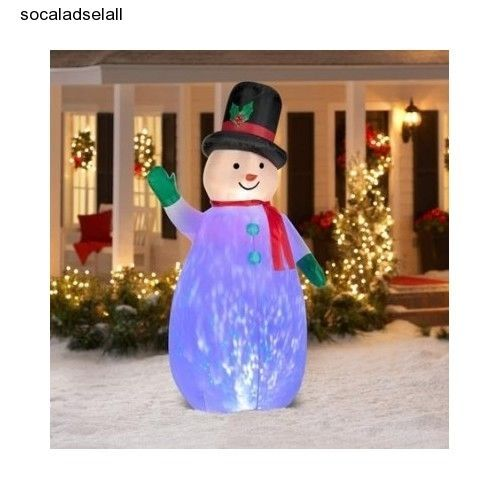 Christmas-Inflatable-Snowman-Decorations-7-5-Kaleidoscope-Colors - inflatable outdoor christmas decorations