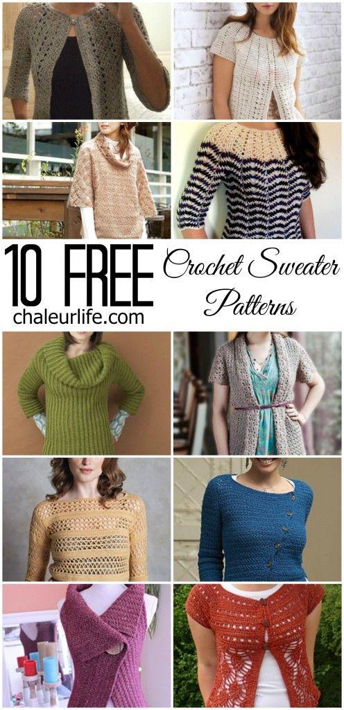 10 Free Crochet Sweater Patterns Chaleur Life Sweaters