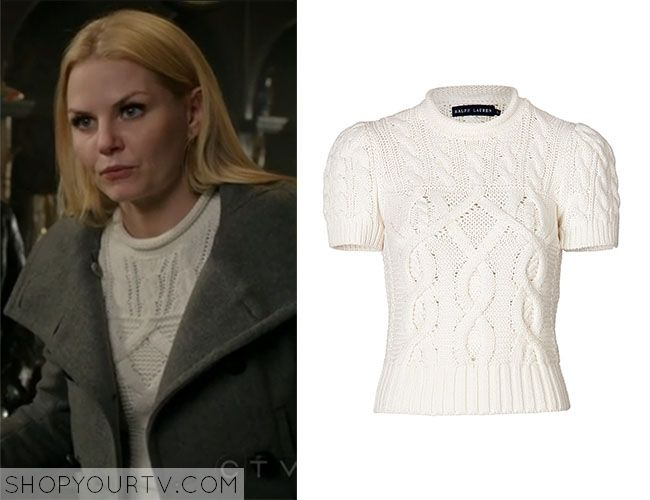 Emma Swan (Jennifer Morrison) wears this white short sleeve roll ...