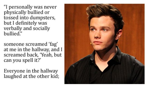 The Best Chris Colfer Quote Glee Pinterest
