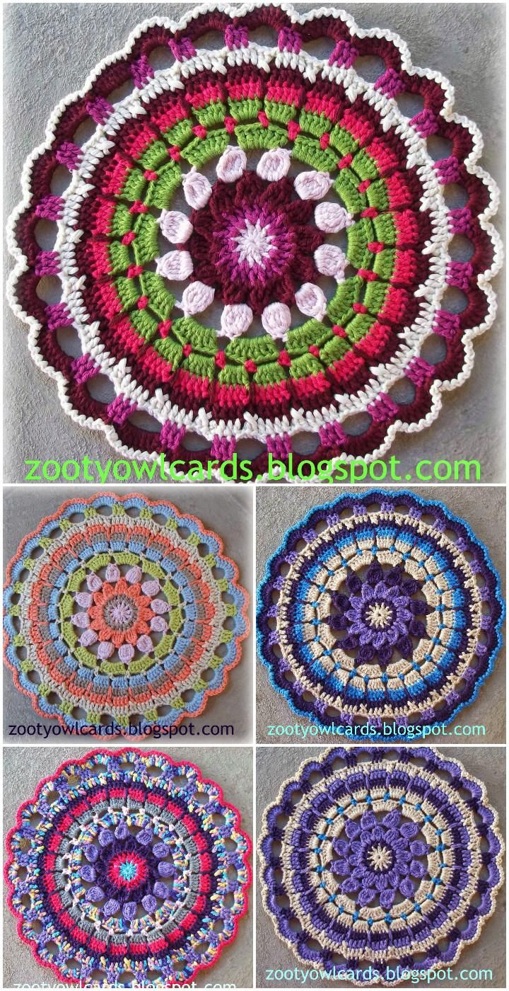 60+ Free Crochet Mandala Patterns - Page 8 of 12 | Crochet mandala ...