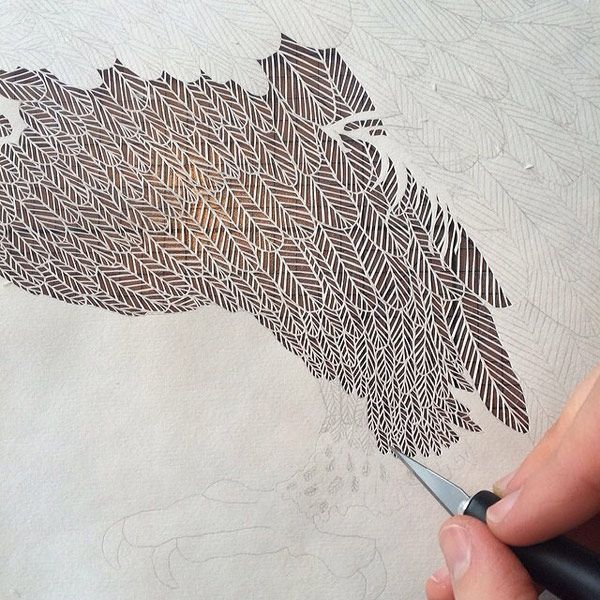 Its All In The Cut Out Intricate Paper Works By Maude White - Intricate hand cut paper art maude white