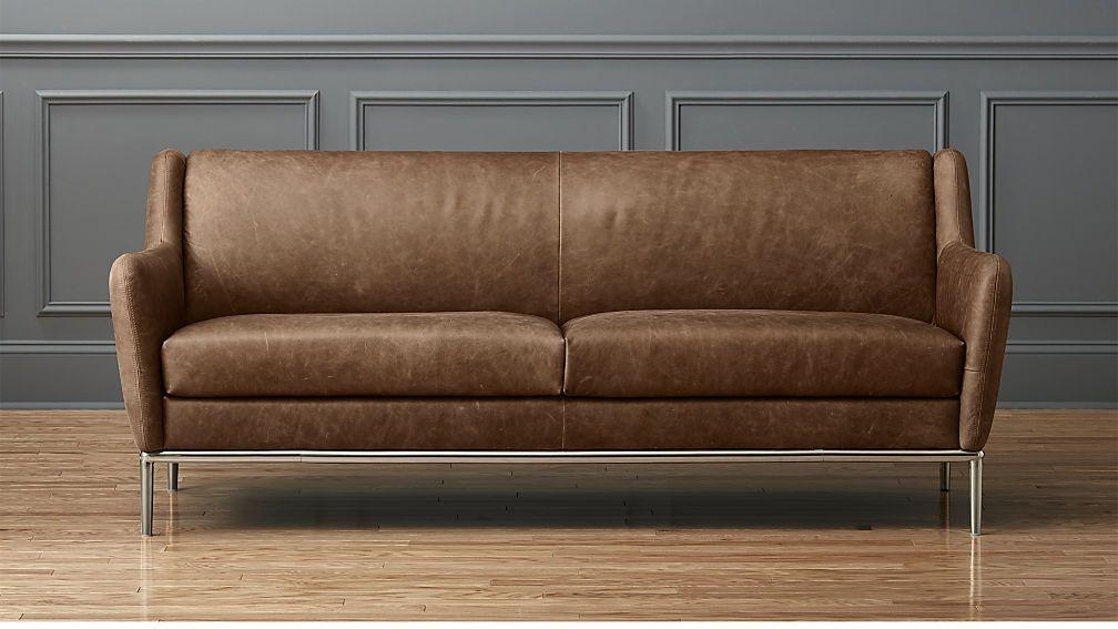 Reclining Sofa Alfred cognac leather sofa