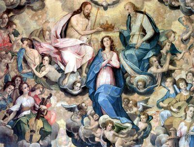 Bernardo Bitti La Coronacion De La Virgen Iglesia De San Pedro De