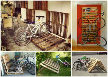 14 Ways Of Reusing Old Wooden Pallets As Bike Racks Mebel Iz