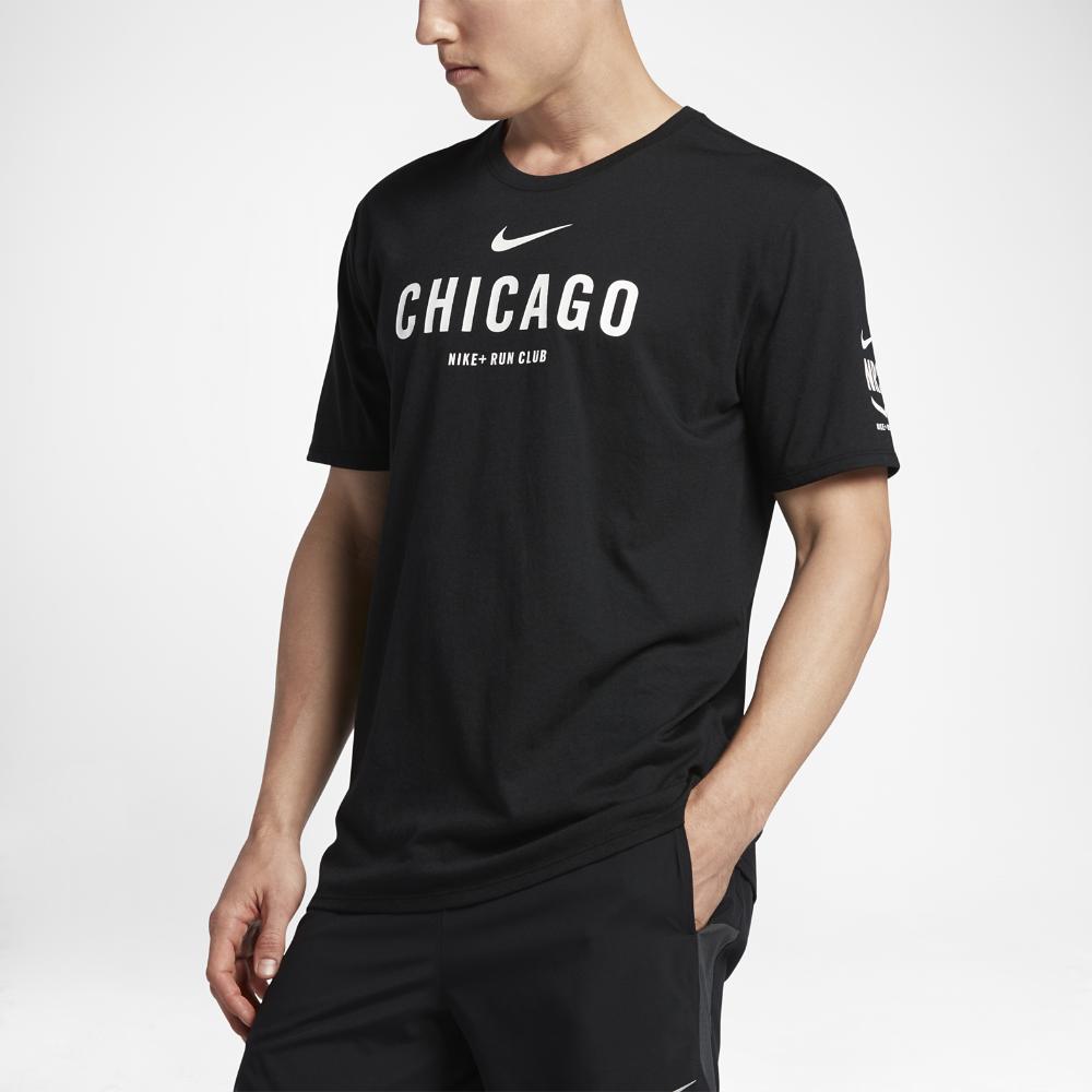 b5fae2d3 Nike Dry Run Club (Chicago) Men's T-Shirt Size | Products | Cheap ...