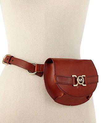 MICHAEL Michael Kors Belt, MK Interlock Buckle Belt Bag - Handbags & Accessories - Macy's