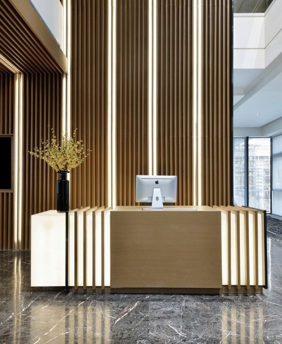 51 Modern Home Office Design Ideas For Inspiration: 100+ Modern Reception Desks Design Inspiration