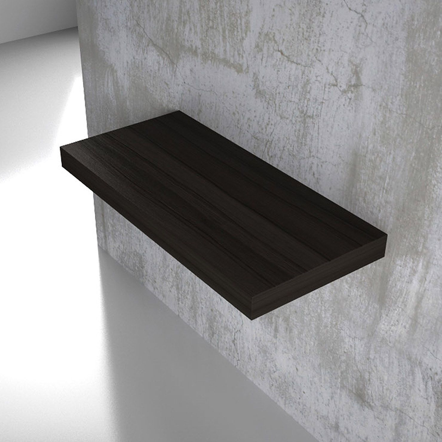 TFT Clever 78cm Wall Mounted Shelf, Stained Wenge Veneer | ACHICA