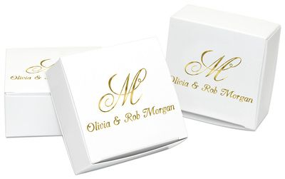 Pick Your Monogram Favor Boxes