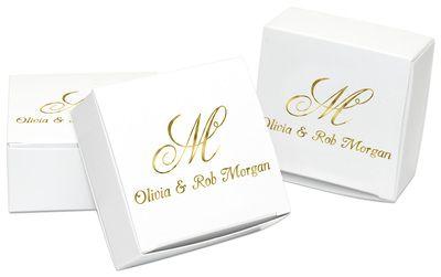 Pick Your Monogram Favor Boxes