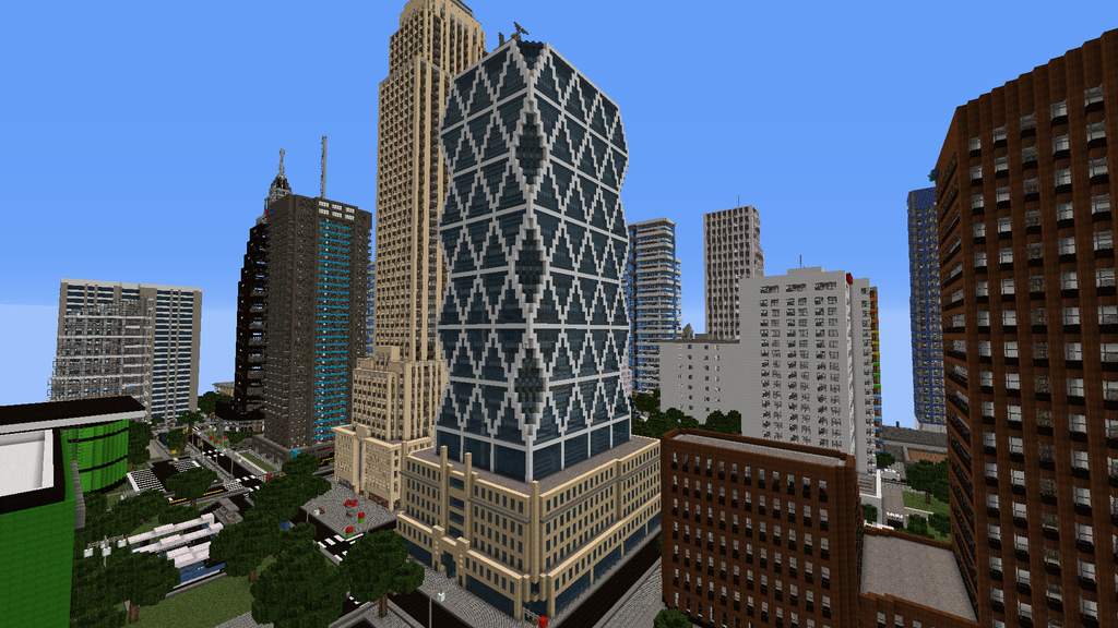 cool new build designs. This is the replica of Hearst Magazine building located in NewYork  city Minecraft New Centrium minecraft buildings Google Search stuff Pinterest